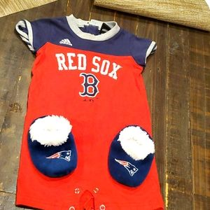 Adidas  size 18month Red Sox onese& Pat's slippers